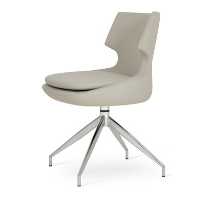 Patara Spider Upholstered Dining Chair Color: Light Grey