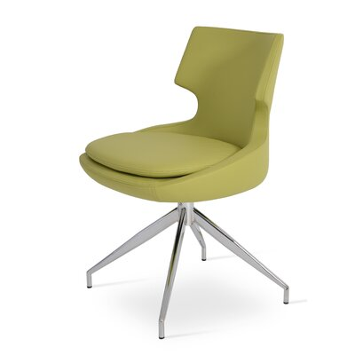 Patara Spider Upholstered Dining Chair Color: Pistachio