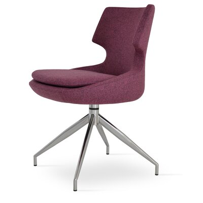 Patara Spider Side Chair Upholstery: Leatherette - Grey