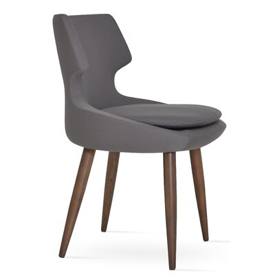 Patara Upholstered Dining Chair Color: Dark Grey