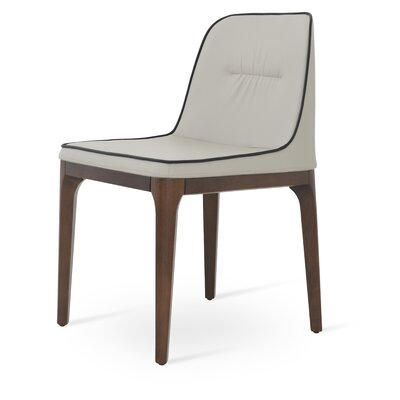London Chair Upholstery: Light Gray/Black