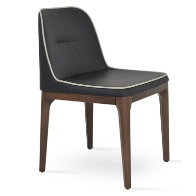 London Chair Upholstery: Black/Light Gray