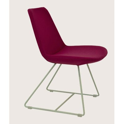 Rent to own Eifel Side Chair Finish: Chrome, Co...