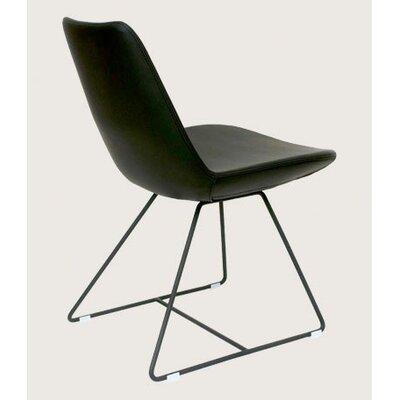 Low Price sohoConcept Eifel Side Chair Finish: Black, Color: Sky Blue, Upholstery: Leatherette