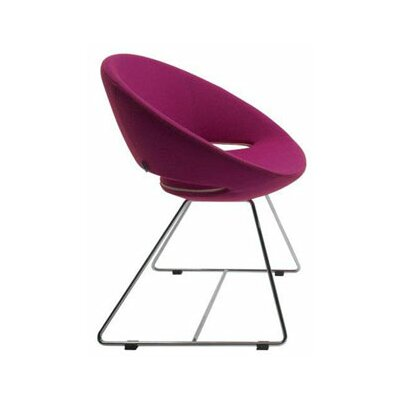 Low Price sohoConcept Crescent Side Chair Finish: Chrome, Color: Red, Upholstery: Leatherette