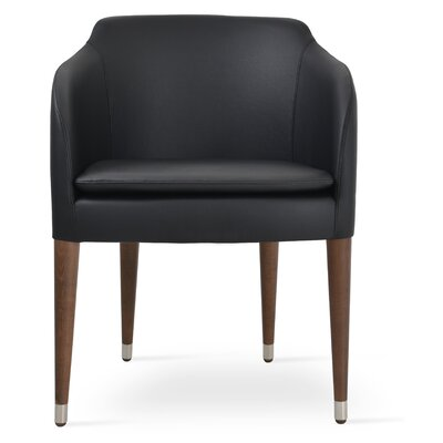 Buca Wood Armchair Upholstery: Black