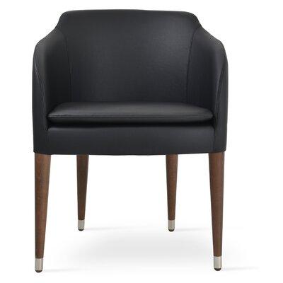 Buca Armchair Upholstery: Black