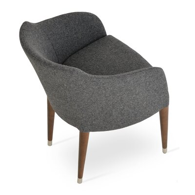 Buca Wood Armchair Upholstery: Dark Gray