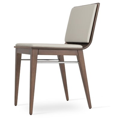 Corona Upholstered Dining Chair Upholstery Color: Light Gray/Natural Ash