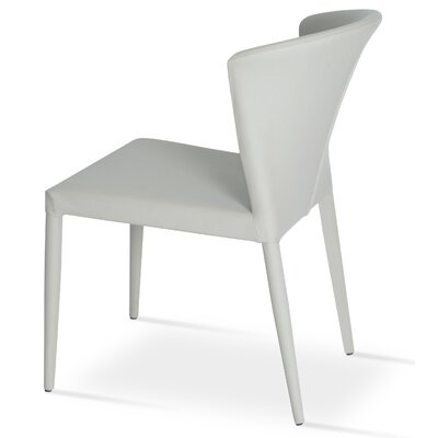Capri Full Upholstery Side Chair Upholstery: White
