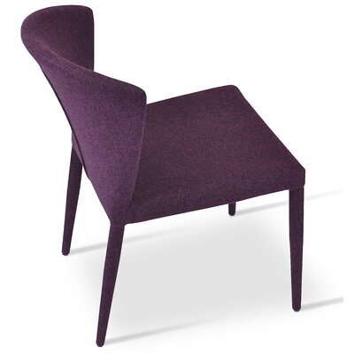 Capri Full Upholstery Side Chair Upholstery: Deep Maroon