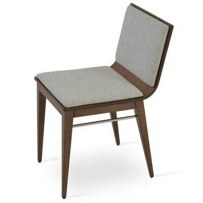 Corona Upholstered Dining Chair Upholstery Color: Black/Walnut