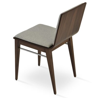 Corona Upholstered Dining Chair Upholstery Color: Silver/Walnut
