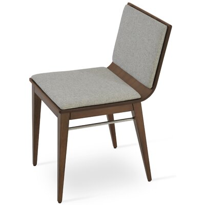 Corona Upholstered Dining Chair Upholstery Color: Silver/Natural Ash
