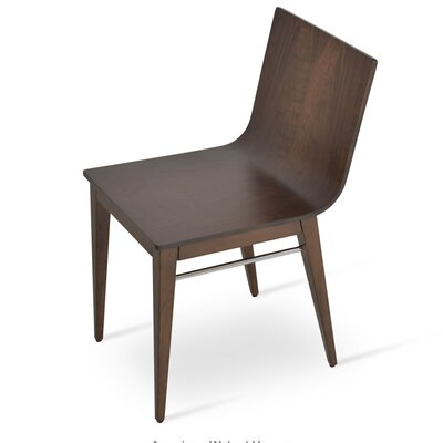 Corona Upholstered Dining Chair Upholstery Color: American Walnut/Veneer
