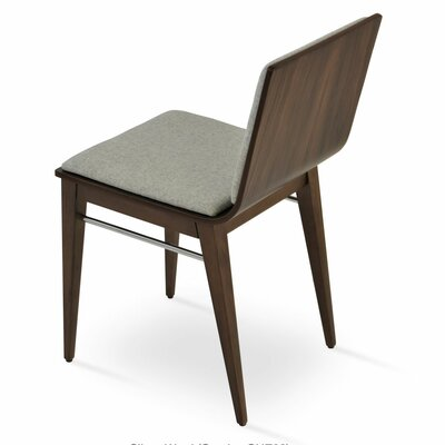 Corona Upholstered Dining Chair Upholstery Color: Natural/Veneer
