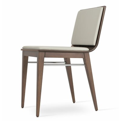 Corona Upholstered Dining Chair Upholstery Color: Light Gray/American Walnut