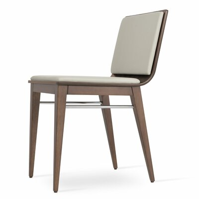 Corona Upholstered Dining Chair Upholstery Color: Light Gray/Natural