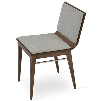 Corona Upholstered Dining Chair Upholstery Color: Silver/Natural