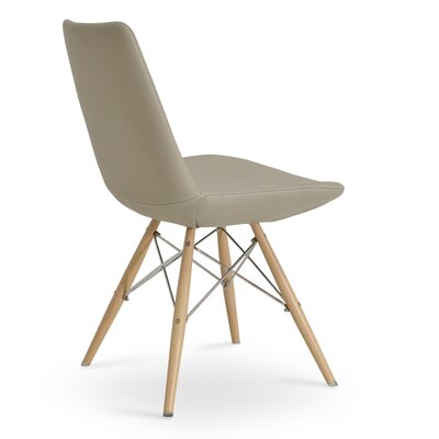 Eiffel Upholstered Dining Chair Color: PPM Bone