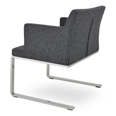Soho Lounge Flat Arm Chair Upholstery: Dark Grey, Upholstery: Organic Wool Fabric