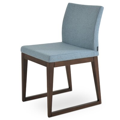 Aria Upholstered Dining Chair Color: Smoke Blue