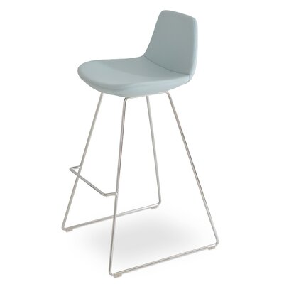 Pera PPM 29 Bar Stool Upholstery: Sky Blue