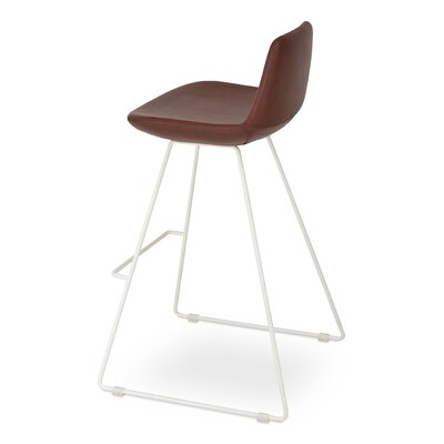 Pera PPM 24 Bar Stool Upholstery: Chestnut