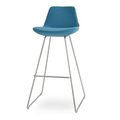 Napoli 24 Bar Stool Upholstery: Sky Blue
