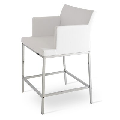 Soho 24.5 Bar Stool Upholstery: Leatherette-White