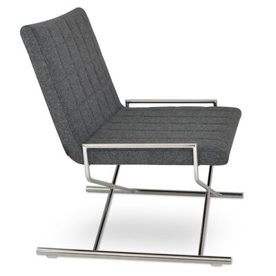 Chelsea X Sled Side Chair Upholstery: Dark Grey