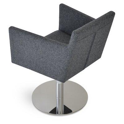 Harput Round Swivel Armchair Upholstery: Dark Gray