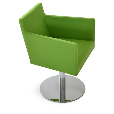 Harput Round Swivel Armchair Upholstery: Pistachio