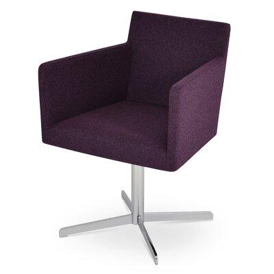 Harput 4 Star Base Armchair Upholstery: Deep Maroon