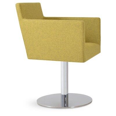 Harput Swivel Round Armchair Upholstery: Amber