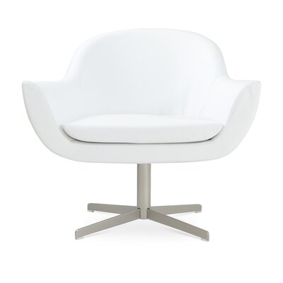 Madison Lounge Chair Upholstery: White