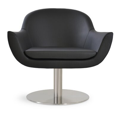 Madison Swivel Lounge Chair Upholstery: Black