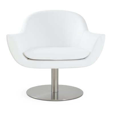 Madison Swivel Lounge Chair Upholstery: White