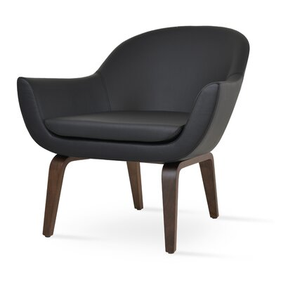 Madison Armchair Upholstery: Black