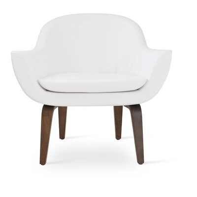 Madison Plywood Armchair Upholstery: White