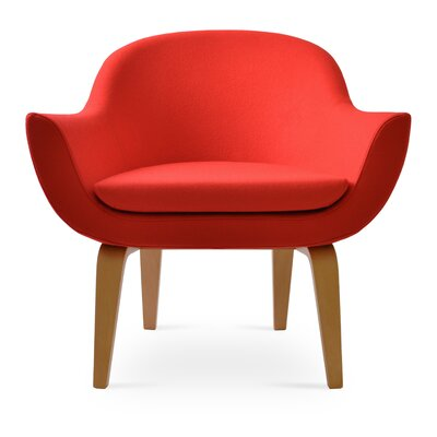 Madison Plywood Armchair Upholstery: Apple Red