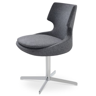 Patara Upholstered Dining Chair Color: Dark Gray
