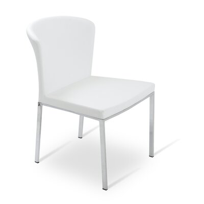 Capri Upholstered Dining Chair Color: White