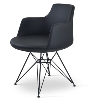 Dervish Tower Chair Frame Color: Black, Upholstery Color: Black
