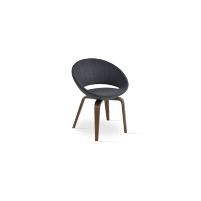 Crescent Plywood Upholstered Dining Chair Upholstery Color: Camira Wool Dark Gray, Frame Color: Wenge