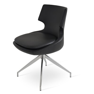 Patara Spider Upholstered Dining Chair Color: Black