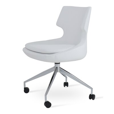 Patara Spider Upholstered Dining Chair Color: White