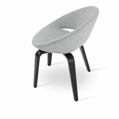 Crescent Plywood Upholstered Dining Chair Upholstery Color: Camira Wool Silver, Frame Color: Natural