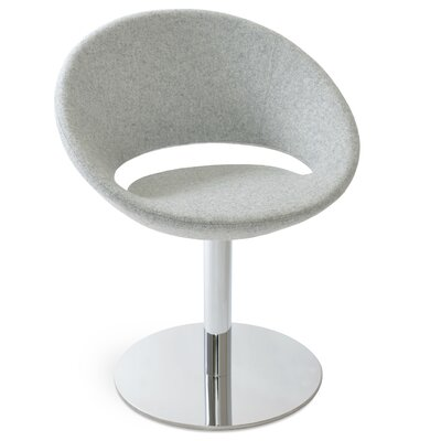 Crescent Round Upholstered Dining Chair Upholstery Color: Camira Wool Silver