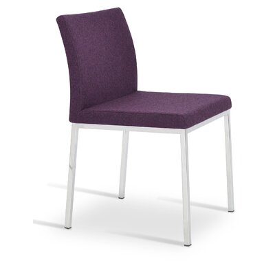 Aria Upholstered Dining Chair Color: Deep Maroon
